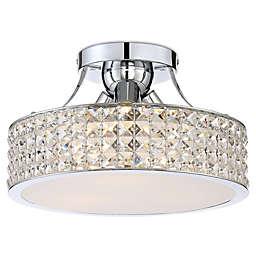 Quoizel Platinum Alexa 3-Light Semi-Flush Mount Ceiling Light in Chrome