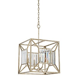 Quoizel Sabrina 4-Light 16-Inch Foyer Chandelier in Vintage Gold
