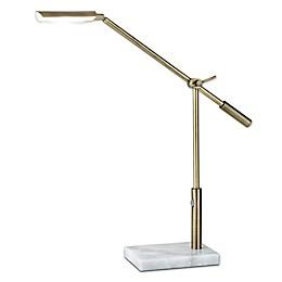 Adesso® Vera Desk Lamp in Brass