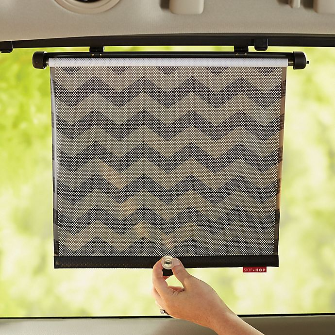 Alternate image 1 for SKIP*HOP 2-Piece Style Driven Window Shade in Tonal Chevron