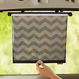 SKIP*HOP 2-Piece Style Driven Window Shade in Tonal Chevron