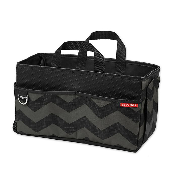 Alternate image 1 for SKIP*HOP® Car Storage Box in Tonal Chevron