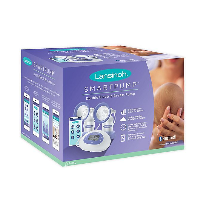 Alternate image 1 for Lansinoh® Smartpump™ Double Electric Breast Pump in Purple/White