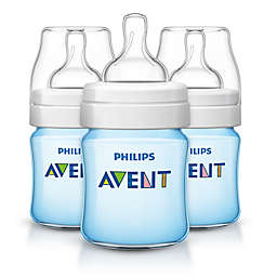 Philips Avent 3-Pack 4 Oz. Polypropylene Wide-Neck Anti-Colic Bottle in Blue