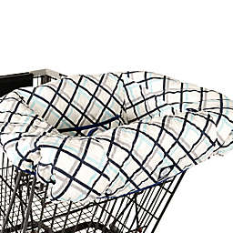 Balboa Baby® Shopping Cart and High Chair Cover in Navy Plaid