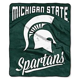 Michigan State University Raschel Throw Blanket