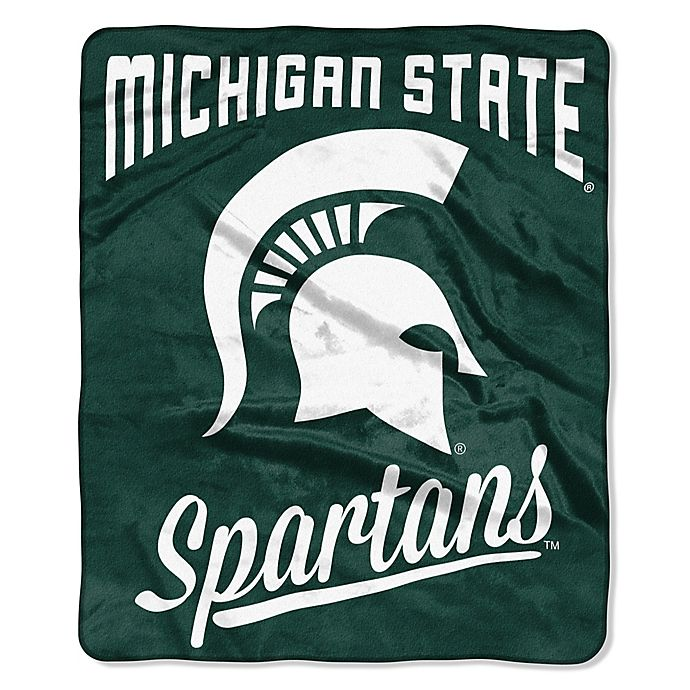 Alternate image 1 for Michigan State University Raschel Throw Blanket