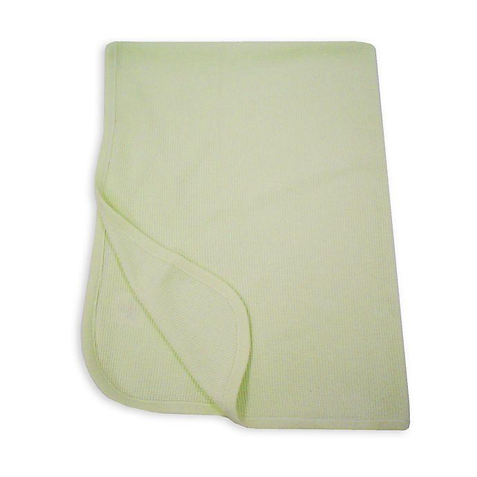 Alternate image 1 for TL Care® Cotton Thermal Blanket in Celery