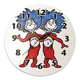 Trend Lab® Dr. Seuss™ Thing 1 and Thing 2 Wall Clock