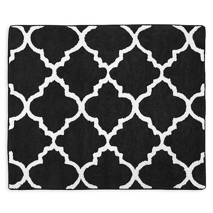 Alternate image 1 for Sweet Jojo Designs Trellis Floor Rug in Black/White