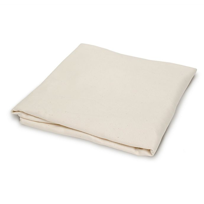 Alternate image 1 for Naturepedic® Fitted Flannel Crib Sheet in Ivory