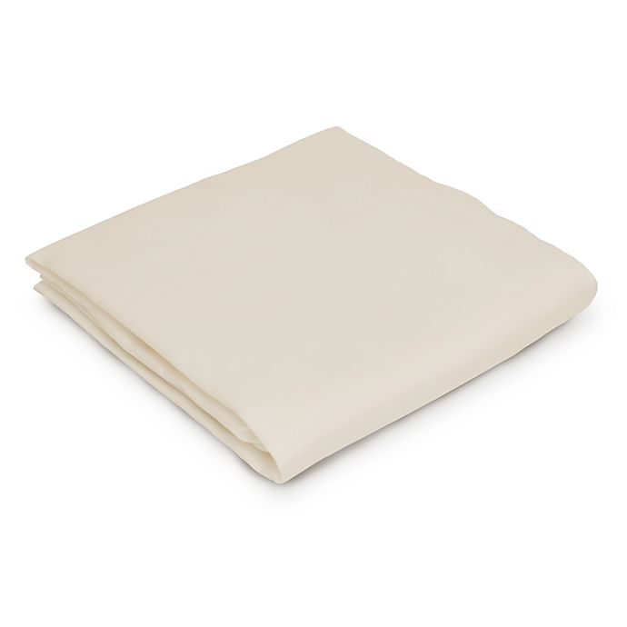 Alternate image 1 for Naturepedic® Organic Cotton Fitted Bassinet Sheet in Ivory