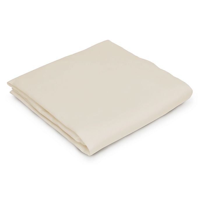 Alternate image 1 for Naturepedic® Portable Fitted Crib Sheet in Ivory