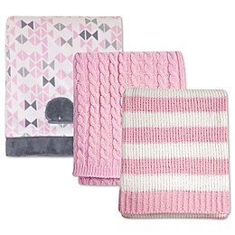 Nautica Kids® Mix & Match Nautical Blankets in Pink/Grey