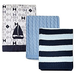 Nautica Kids® Mix & Match Nautical Blankets in Blue/Grey