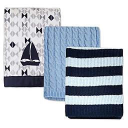 Nautica Kids® Mix & Match Nautical Blankets in Blue/Grey