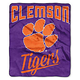 Clemson University Raschel Throw Blanket