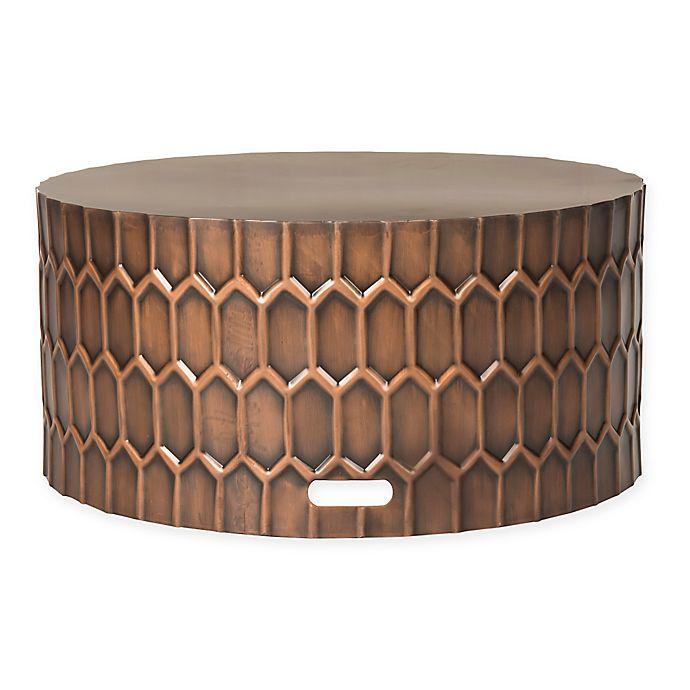 Safavieh Corey Antique Copper Coffee Table