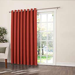 Sun Zero® Bella 84-Inch Room-Darkening Extra-Wide Grommet Patio Door Panel in Brick