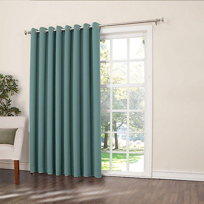 Alternate image 1 for Sun Zero Bella 84-Inch Room-Darkening Extra-Wide Grommet Patio Door Panel