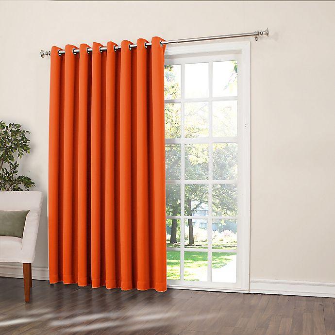 Alternate image 1 for Sun Zero Bella 84-Inch Room-Darkening Extra-Wide Grommet Patio Door Panel in Tangerine