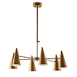 Ink & Ivy Bellac 6-Light Chandelier in Antique Brass
