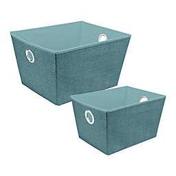 Simplify Grommet Storage Tote in Blue