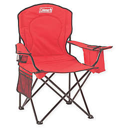 Coleman Oversized Quad Chair with Cooler in Red