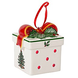Spode® Christmas Tree LED Gift Box Ornament