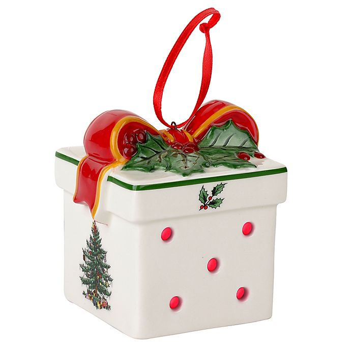 Spode® Christmas Tree LED Gift Box Ornament | Bed Bath ...