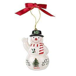 Spode® Christmas Tree Snowman with Black Hat Ornament