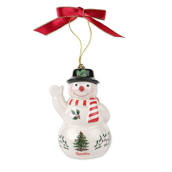 Spode Christmas Tree Snowman With Black Hat Ornament Bed Bath Beyond