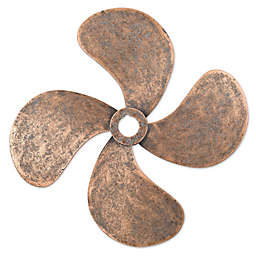 Ship's Copper Propeller Wall Display in Black Antique