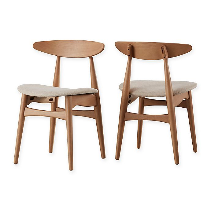 Alternate image 1 for iNSPIRE Q® Paloma Mid-Century Dining Chairs in Natural/Beige (Set of 2)