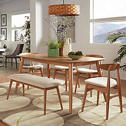 iNSPIRE Q® Paloma Mid-Century 6-Piece Dining Set in Natural/Beige