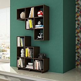 Manhattan Comfort Cascavel Stair Cubby Bookcase