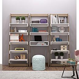 Manhattan Comfort Accentuations Carpina 3-Piece Ladder Shelf Desk Bookcase