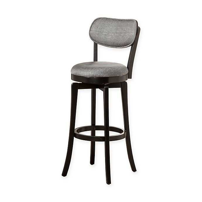 Groovy Hillsdale Wood Sloan Swivel Counter Stool In Black Grey Andrewgaddart Wooden Chair Designs For Living Room Andrewgaddartcom