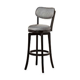 Hillsdale Wood Sloan Swivel Counter Stool in Black/Grey