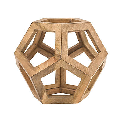 Dimond Wooden Honeycomb Orb in Wood