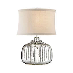 Dimond Lighting Nassau Table Lamp in Silver with Fabric Shade