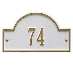 Whitehall Products Petite One-Line Arch Marker Address Plaque