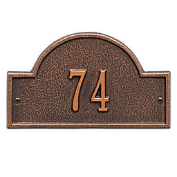 Whitehall Products Petite One-Line Arch Marker Address Plaque in Antique Copper