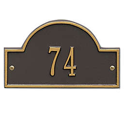 Whitehall Products Petite One-Line Arch Marker Address Plaque in Bronze/Gold