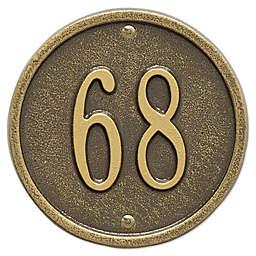 Whitehall Products 6-Inch One-Line Round Address Plaque in Antique Bronze