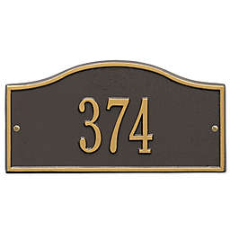 Whitehall Products™ Rolling Hills 1-Line Mini Wall Address Plaque in Bronze/Gold