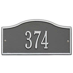 Whitehall Products™ Rolling Hills 1-Line Mini Wall Address Plaque in Pewter/Silver