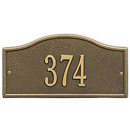 Whitehall Products™ Rolling Hills 1-Line Mini Wall Address Plaque