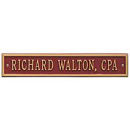 Whitehall Products 15-Inch Arch Extension Address Plaque in Red/Gold