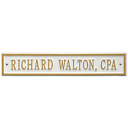 Whitehall Products 15-Inch Arch Extension Address Plaque in White/Gold